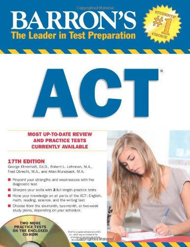 Barron's ACT with CD-ROM, 17th Edition (Barron's ACT (W/CD))