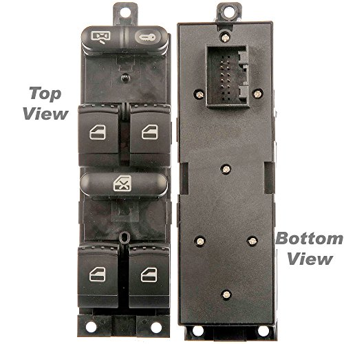 APDTY 012611 Master Power Window Switch Front Left Driver-Front For 1999-2006 VW Golf 4-Door / 1999-2005 VW Jetta 4-Door / 1998-2005 VW Passat 4-Door (Replaces VW 1J4959857D)