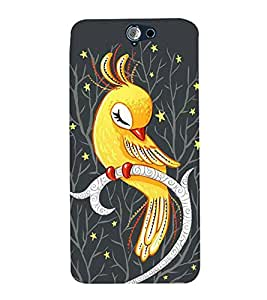 Cute parrot Back Case Cover for HTC One A9