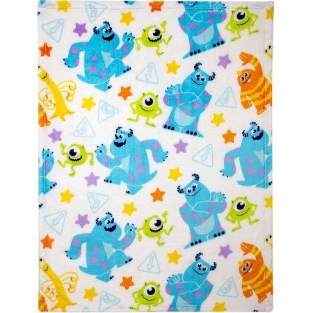 Disney Monsters Plush Printed Blanket (Monsters Inc Toddler Blanket compare prices)
