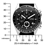 Fossil Men's CH2573 Black Leather Strap Black Analog Dial Chronograph Watch