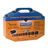 Spyder 600807 Tungsten Carbide Tipped Rapid Core Eject Maintenance Hole Saw Kit, 16-Piece