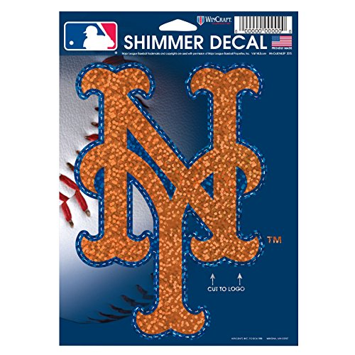 MLB New York Mets Shimmer Decal, 5 x 7