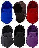 【全6色】 防寒 対策 の必需品 多機能 6way フェイス マスク & ネック ウォーマー  スキー スノボー ウィンター スポーツ や バイク での ツーリング の際にぜに ブラック