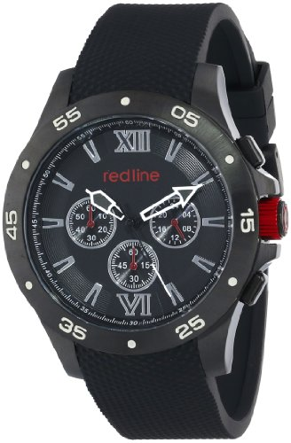 Red Line Spark 60037 46mm Stainless Steel Case Black Rubber Mineral Men's Watch