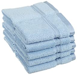 Superior Egyptian Cotton 10-Piece Face Towel Set, Light Blue by Superior