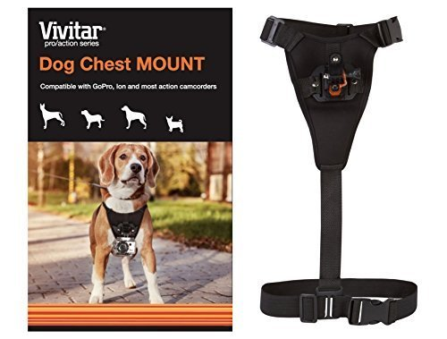 Vivitar Pro Action Series Dog Chest Mount for GoPro & All Action Cameras (Color Black) VIV-APM-7822