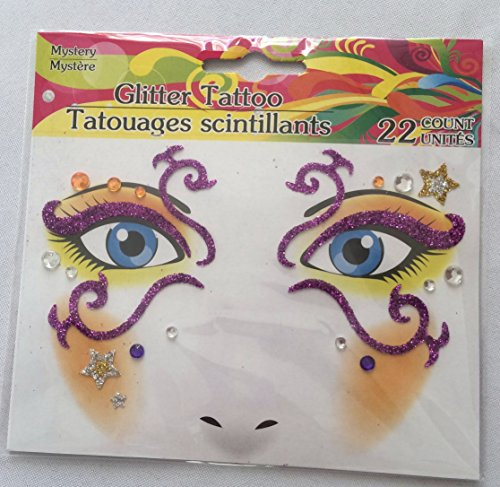 Glitter Facial Tattoos - 1