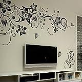 Amovible Stickers Muraux Fleurs Mur eTiquette Mur Mural Maison DeCor Chambre DeCor Enfants HG-0275...