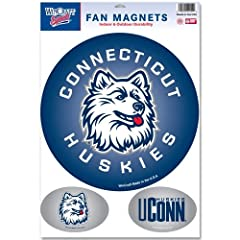 Buy Connecticut Huskies Official NCAA 11x17 Car Magnet 3-Pack Set by Wincraft by NCAA