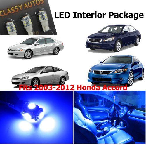 Honda Accord BLUE Interior LED Package (6 Pieces)