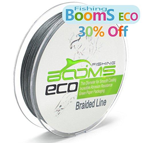 Booms eco 300yard green 20 lb 100 uhmwpe braided fishing for 20 lb fishing line