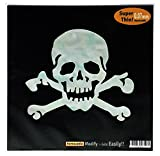 Skull Head /WP Inlay Sticker Decal For Guitar & Bass