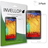 INVELLOP Samsung Galaxy Note 3 Note III High Definition (HD) Crystal Clear screen protector guard [3-Pack]