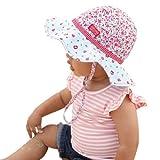 Millymook Girls Reversible Cotton Sun Hat Rosie Posy Floppy Hat, UPF50+ ~ Millymook