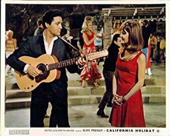 CALIFORNIA HOLIDAY SPINOUT ELVIS PRESLEY GUITAR SHELLEY FABARES LOBBY