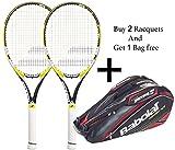 Babolat Drive Z lite Racquet & Babolat Aero Line Racquet HolderX 6 ( Black/Red) - Combo