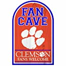 NCAA Clemson Tigers 11-by-17 Wood Sign Traditional Look
