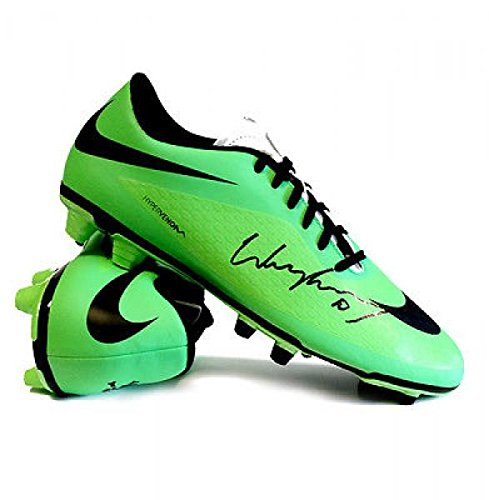 Wayne Rooney Soccer Shoes Wayne Rooney Signed Football Boot Nike Hypervenom Green
