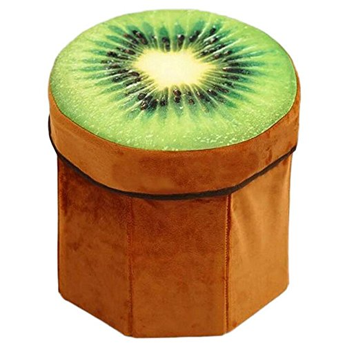 ShopyBucket Cute Lovely 3D Cartoon Fruit Watermelon Or Wood Shape Inner Inflatable Ottoman Stool Plush Air Filled Soft Comfort Seat With Pump - B07336QGTJ
