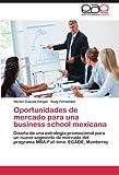 Oportunidades de mercado para una business school mexicana: Diseño de una estrategia promocional para un nuevo segmento de mercado del programa MBA-Full time. EGADE, Monterrey (Spanish Edition)