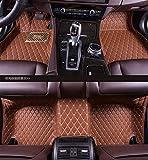 Pegasuss(ペガサス)【ボルボXC60/VOLVO XC60】専用フロアマットカーマット高級レザー素材前席と後席フロアマット防水右手ドライブ車のフロアマット-ブラウン