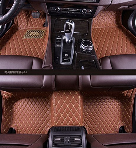Pegasuss Custom Fit Luxury XPE Leather Waterproof Floor Mat for Nissan Patrol 2014-2015 (Brown) (Nissan Patrol Accessories compare prices)