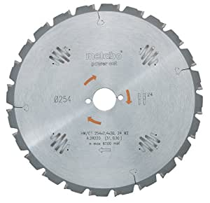 Metabo 628002000 Lame HW/CT pour scie circulaire 160 x 20 x 2.2/1.4, 10 dents, angle 22° (Import Allemagne)
