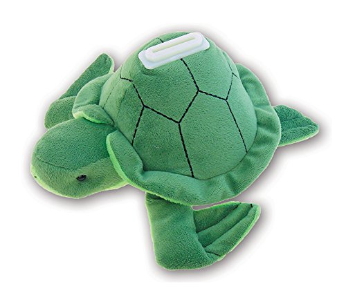 Puzzled Plush Sea Turtle Huggie Bank