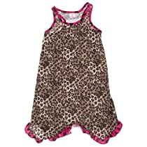 Laura Dare Leopard Print Racerback Nightgown for Girls 4