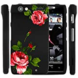 MINITURTLE, 3 in 1 Slim Fit Graphic Design Image 2 Piece Snap On Hard Phone Case Cover, Stylus Pen, and Clear LCD Screen Protector for for Android Smartphone Motorola Droid Razr XT912 /Verizon (Affectionate Flowers)
