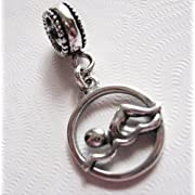 Swim Swimmer Sterling Silver Charm Bead European Style