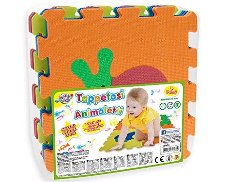 Teorema 72475 - Tappetini Puzzle con Animali, colori assortiti, 9 pezzi