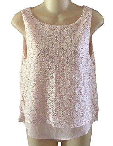 banana-republic-womens-light-peach-lace-sleeveless-blouse-tank-top-small