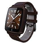 niceEshop(TM) Bluetooth Smartwatch für IPhone und Android Geräte mit Kamera und SIM SD Karten Slot (Kaffeebraun)