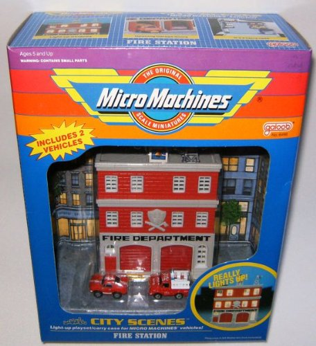 Fire Station B City Scenes Micro Machines Playset