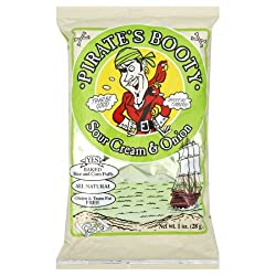 Pirate's Booty, Sour Cream &amp; Onion, 1-Ounce Bags (Pack of 24)