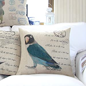 "Yamimi parrot Linen Cloth Pillow Cover Cushion Case 18"",Q173 from Yamimi"
