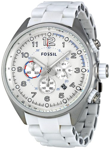 Fossil Men's CH2698 Flight Silver Dial Watch