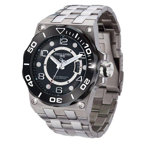 Jorg Gray JG9600-13 - Reloj analógico de cuarzo para hombre con correa de acero inoxidable, color plateado
