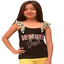 Titrit Black strapy top for girls