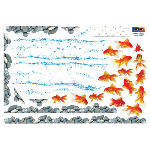 Reusable Decoration Wall Sticker Decal - Gold Fish
