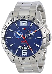 Tommy Hilfiger Men's 1790975 Cool Sport GMT Movement Stainless Steel Bracelet Watch