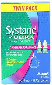 Systane Ultra Lubricant Eye Drops, 2-count .33 fl oz (10 ml) Bottle