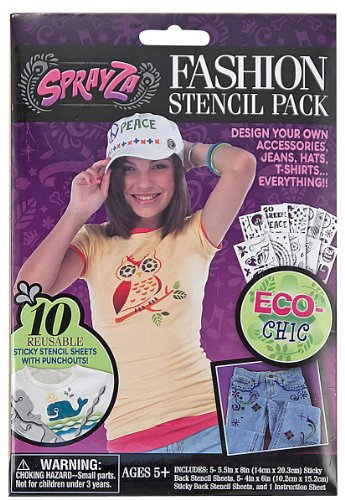 Melissa & Doug SprayZa Fashion Stencil Pack Eco - 4200422 - 1