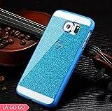 Galaxy Note 2 Case, LA GO GO(TM) Beauty Luxury Diamond Hybrid Glitter Bling Hard Shiny Sparkling with Crystal Rhinestone Cover Case for Samsung Galaxy Note 2 N7100 (Blue, Galaxy Note 2)