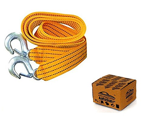 Autosun Car Auto Towing Tow Cable Rope Heavy Duty 3 Ton 2.65Mtr For Mahindra Thar