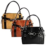 Womens Faux Leather Rina Rich Complete Delight Shoulder Handbag Purse (different colors available)