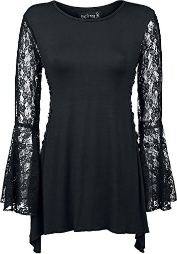 Gothicana by EMP Angel Sleeve Shirt Manica lunga donna nero XL