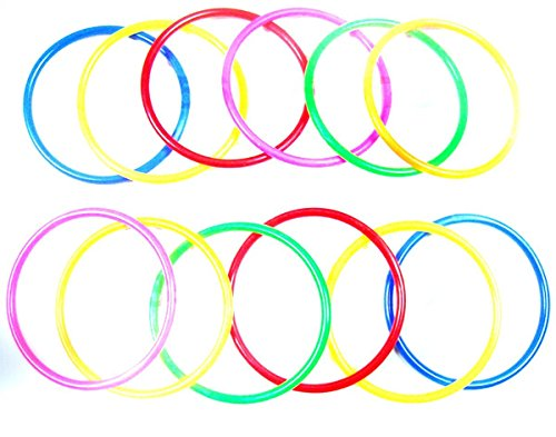 Eforstore-10pcs-SmallMediumLarge-Size-Colorful-Plastic-Toss-Rings-For-Speed-and-Agility-Practice-Sport-Outdoor-Games
